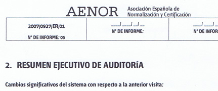 Aenor audit